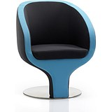 Image of Tulip Visitor Chair - Black & Blue
