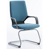 Image of Zenon Visitor Chair - Blue