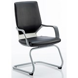 Image of Zenon Leather Visitor Chair - Black