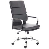 Image of Advocate Leather Executive Chair - Black