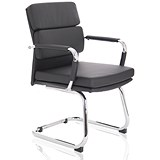 Image of Advocate Leather Visitor Chair - Black