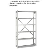 Image of Bisley Shelving Extension Kit / W1000 x D300mm / Grey