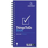 Challenge Wirebound Things to do Today Planning Book / Perforated / 115 Pages / 280x141mm