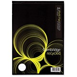 Image of Cambridge Recycled Headbound Refill Pad / A4 / Ruled with Margin / 4-Hole / 80 Sheets / Pack of 5