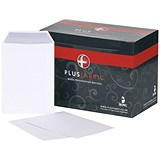 Image of Plus Fabric C5 Pocket Envelopes / Press Seal / 110gsm / White / Pack of 250