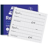 Image of Challenge Carbon Receipt Duplicate Book / 2 to View / 100 Sets / 105x130mm / Pack of 5