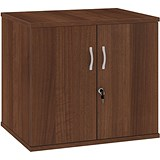 Image of Momento Desk-High Cupboard - Walnut