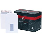 Plus Fabric C5 Pocket Envelopes / Window / Peel & Seal / 110gsm / White / Pack of 500