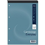 Image of Cambridge Headbound Refill Pad / A4 / Narrow Ruled with Margin / 4 Holes / 160 Pages / Pack of 5