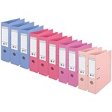 Image of Esselte No. 1 Power A4 Lever Arch Files / Slotted Covers / Assorted / Pack of 10