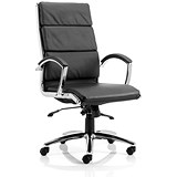 Image of Classic High Back Executive Leather Chair - Black