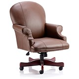 Image of Condor Leather Executive Chair - Brown