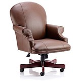Image of Condor Leather Executive Chair / Brown / Built
