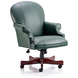 Image of Condor Leather Executive Chair - Green