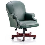Image of Condor Leather Executive Chair / Green / Built