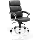 Image of Desire Executive Leather Chair / Black / Built