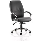 Image of Dune High Back Leather Executive Chair - Black