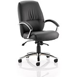 Dune Medium Back Leather Executive Chair - Black