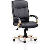 Image of Finsbury Leather Executive Chair / Black / Built