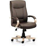 Image of Finsbury Leather Executive Chair / Brown / Built