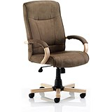 Image of Finsbury Suede Effect Executive Chair - Brown