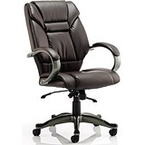 Image of Galloway Leather Executive Chair - Brown