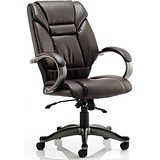 Image of Galloway Leather Executive Chair / Brown / Built
