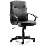 Image of Harley Leather Executive Chair - Black