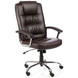 Image of Moore Leather Deluxe Executive Chair - Brown