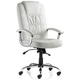 Image of Moore Leather Deluxe Executive Chair - White