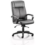 Image of Plaza Leather Executive Chair / Black / Built