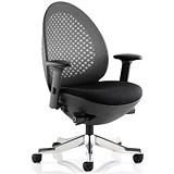 Image of Revo Operator Chair / Black Shell / Charcoal Mesh / Built
