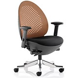 Image of Revo Operator Chair / Black Shell / Mandarin Mesh
