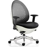Image of Revo Operator Chair / White Shell / Charcoal Mesh