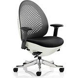Image of Revo Operator Chair / White Shell / Charcoal Mesh / Built