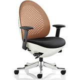Image of Revo Operator Chair / White Shell / Mandarin Mesh