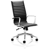 Image of Ritz Leather High Back Executive Chair - Black