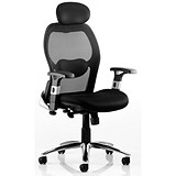 Image of Sanderson Executive Airmesh Chair - Black