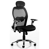 Image of Sanderson Executive Airmesh Chair / Black / Built