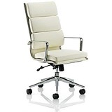 Image of Savoy Leather Executive Chair / Ivory / Built