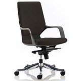 Xenon Leather Executive Medium Back Chair / Black / Built