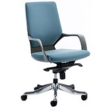 Image of Xenon Medium Back Executive Chair / Blue / Built