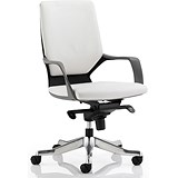 Image of Xenon Leather Medium Back Executive Chair - White