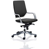 Image of Xenon Medium Back Executive Chair / White Frame / Black Fabric / Built