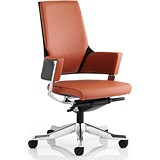 Image of Enterprise Leather Executive Medium Back Chair - Tan