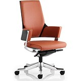 Image of Enterprise Leather Executive Medium Back Chair / Tan / Built