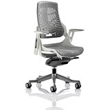 Image of Zure Elastomer Executive Chair - Grey