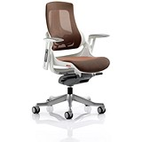 Image of Zure Executive Mesh Chair / Mandarin / Built
