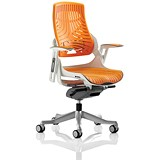 Image of Zure Elastomer Executive Chair - Orange