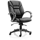 Image of Galloway Leather Executive Chair / Black / Built